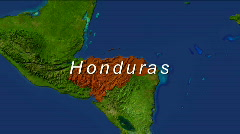Zooming Into Honduras Stock Footage