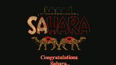 SaharaNeonSign zoom Stock Footage