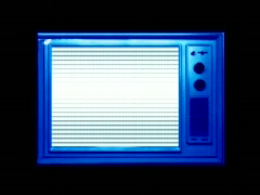 Blue TV - stock footage