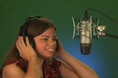 Woman Singing a Fast Song (no audio) Stock Footage