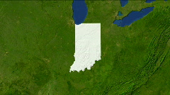Zooming Into Indiana - stock footage