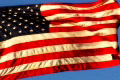 High Speed Camera USA Flag Sunset 02 Loop Footage