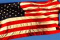 High Speed Camera USA Flag Sunset 02 Loop Footage