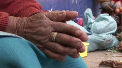 Hands Of Woman, Latin America - stock footage