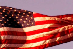 High Speed Camera USA Flag Sunset 04 Loop - stock footage