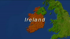 Zooming Into Ireland - stock footage