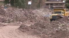 Truck on Garbage Dump Stock Footage