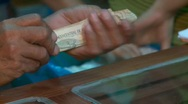 Man With Bank Notes (Sol, Peru) Stock Footage