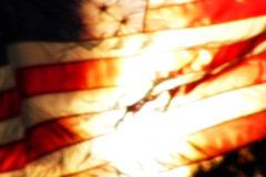 High Speed Camera USA Flag Sunset 10 Loop - stock footage