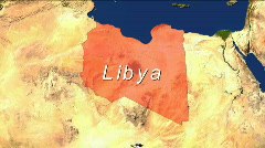 Zooming Into Libya - stock footage
