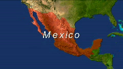 Zooming into Mexico - stock footage