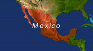 Zooming into Mexico Stock Footage