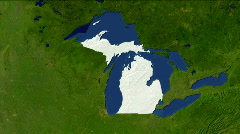Zooming into Michigan Stock Footage