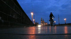 Germany Saxony Dresden skyline at dusk Stock Footage