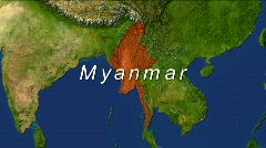 Zooming into Myanmar Stock Footage