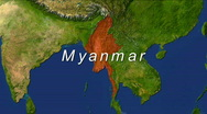 Stock Video Footage of Zooming into Myanmar