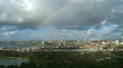 Stock Video Footage of Rainbow over Sydney (1 of 4)