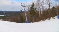 Alpine Skiing Front Flip Stock Footage