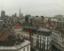 brussels view  - stock footage