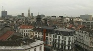 Brussels view  Stock Footage