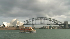 Opera House and Harbor Bridge (1 of 2) Stock Footage