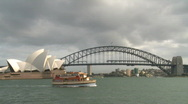 Stock Video Footage of Opera House and Harbor Bridge (1 of 2)
