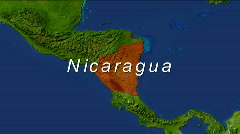 Zooming into Nicaragua - stock footage