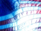 High Speed Camera USA Flag Sunset 11 Loop Stock Footage