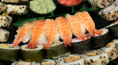 Sushi display background - HD  Stock Footage
