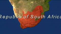 Zooming Into Republic Of South Africa Stock Footage