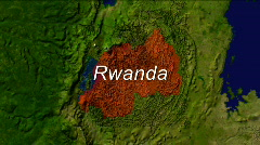 Zooming Into Rwanda - stock footage