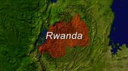 Zooming Into Rwanda Stock Footage