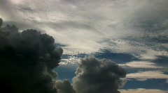 Time-lapse of Storm clouds forming Stock Footage