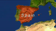 Zooming into Spain Stock Footage
