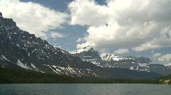 Bow lake, Banff, time lapse Stock Footage