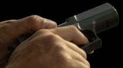 Handgun reloading Stock Footage