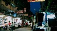 HK market Stock Footage