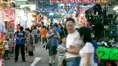 Market crowds Stock Footage