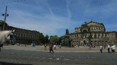 Germany Saxony Dresden opera house square Stock Footage