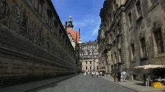 Saxony Dresden Fürstenzug Meissen Tiles Royal Stable Stock Footage