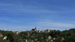 Germany Saxony Bautzen historic skyline Stock Footage