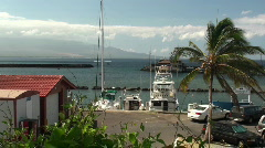 Boat harbour, windy Stock Footage
