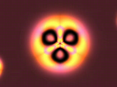 Threeway pulsing light - Loop Stock Footage