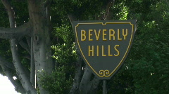 Beverly Hills sign - HD  Stock Footage
