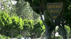 Beverly Hills sign time lapse - HD - stock footage