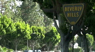 Stock Video Footage of Beverly Hills sign time lapse - HD