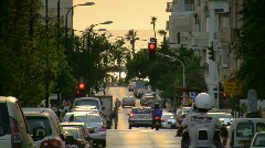 Tel Aviv Geula st sunset tele 1 - stock footage