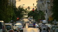 Stock Video Footage of Tel Aviv Geula st sunset tele 1