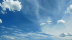 time Lapse clouds. video without the birds. - stock footage