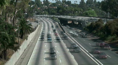 Los Angeles freeway time lapse - HD  Stock Footage